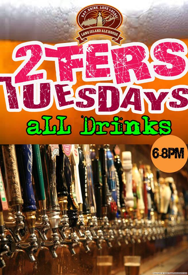 2-Fer Tuesdays 6-8pm