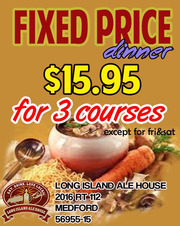 Fixed Price Dinner