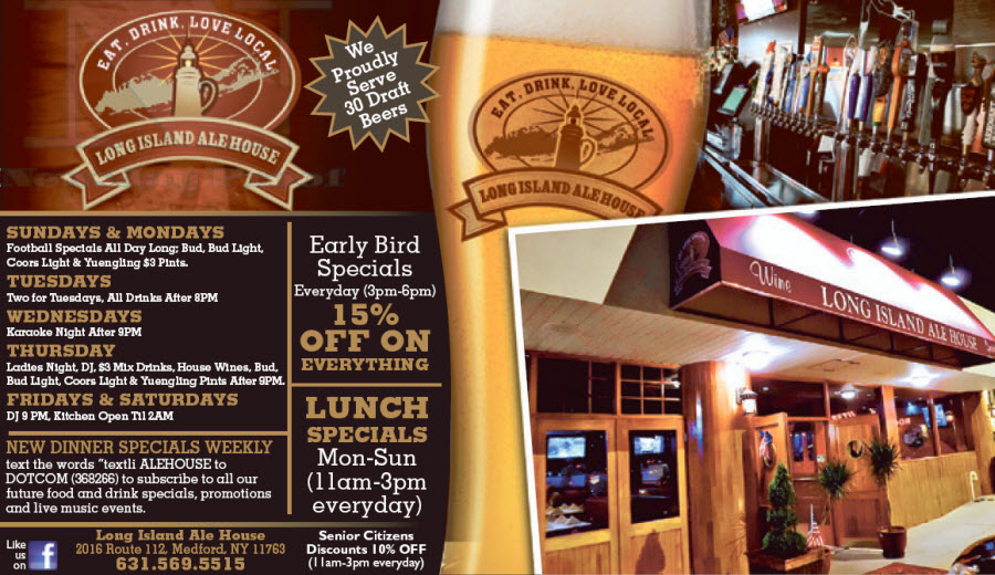 Long Island Ale House - Bar & Grill
